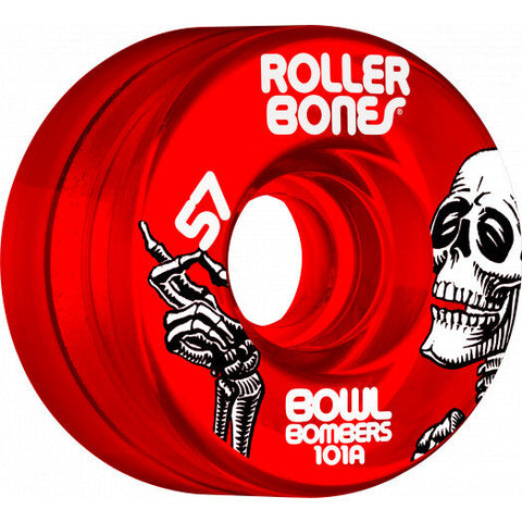 Rollerbones Bowl Bombers Wheels 8pk Red