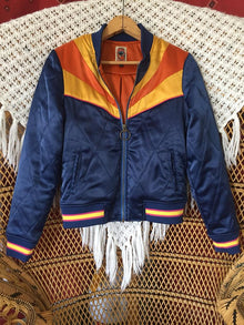 Rising Sun Jacket - Navy Blue Bomber Jacket