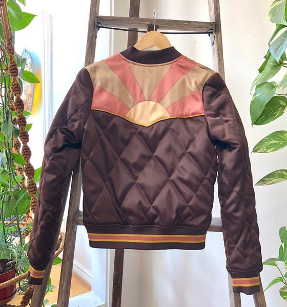 Brown Sugar Rising Sun Bomber Jacket