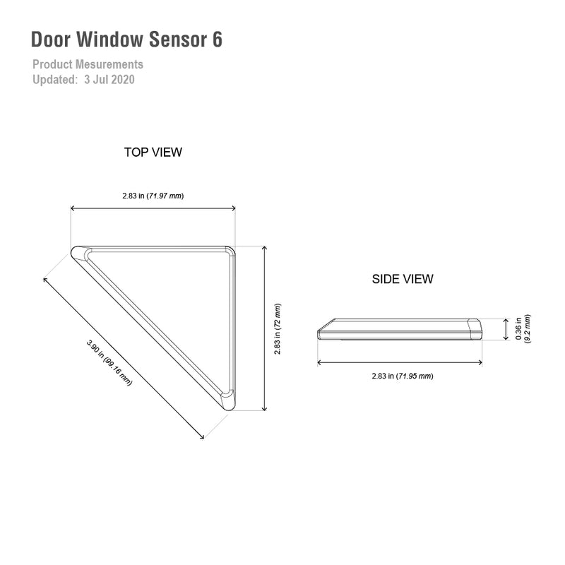 Aeotec Door / Window Sensor 6 dimensions