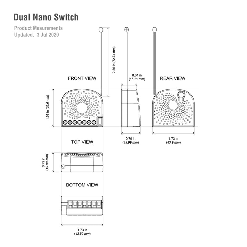 aeotec dual nano switch dimensions