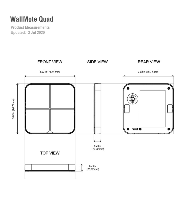 aeotec WallMote quad dimensions