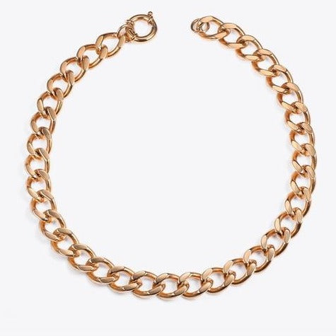 Big strong Link Chain Choker Necklace - AtaCollections