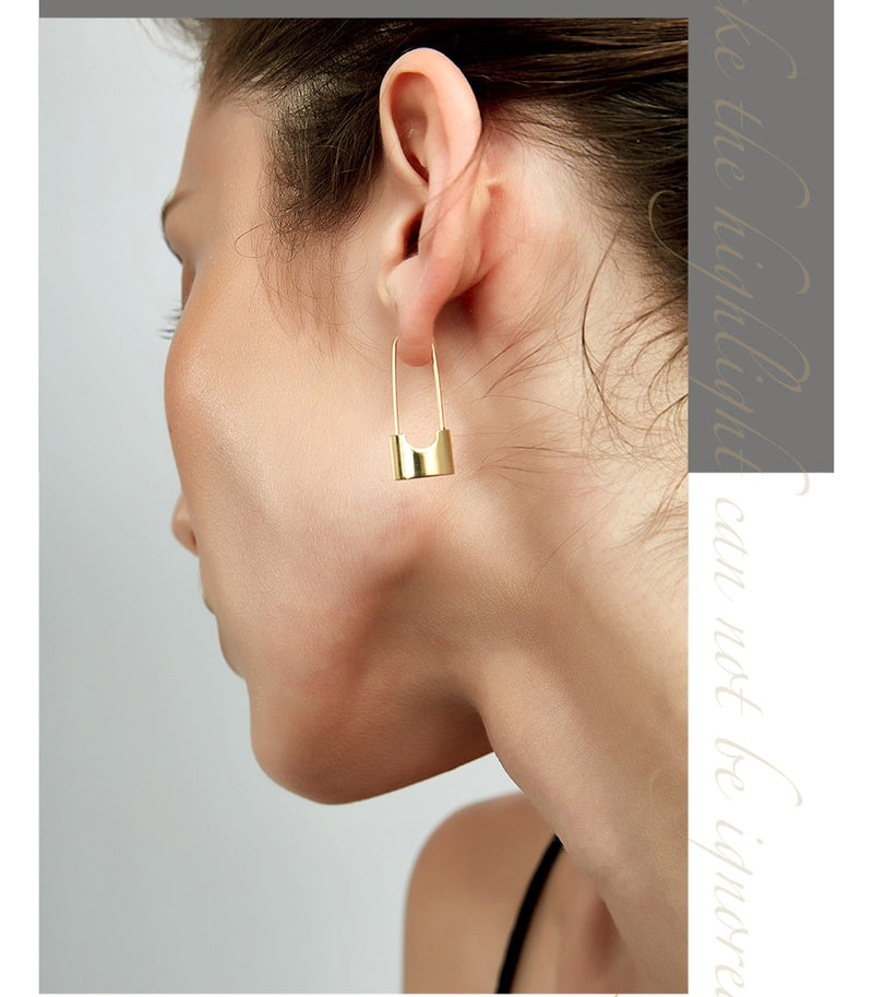Lock it down Earrings - AtaCollections