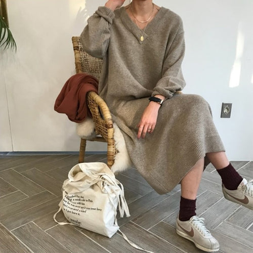 Artisan Sweater Dress - AtaCollections