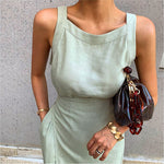 Elegant High Waist Dress - AtaCollections