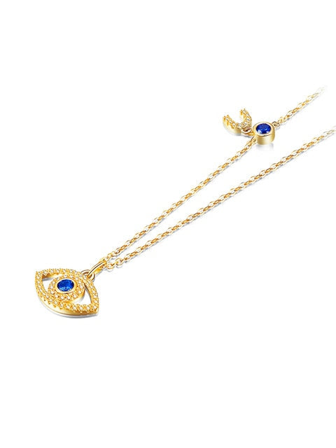 Evil Eye Blue Necklace - AtaCollections