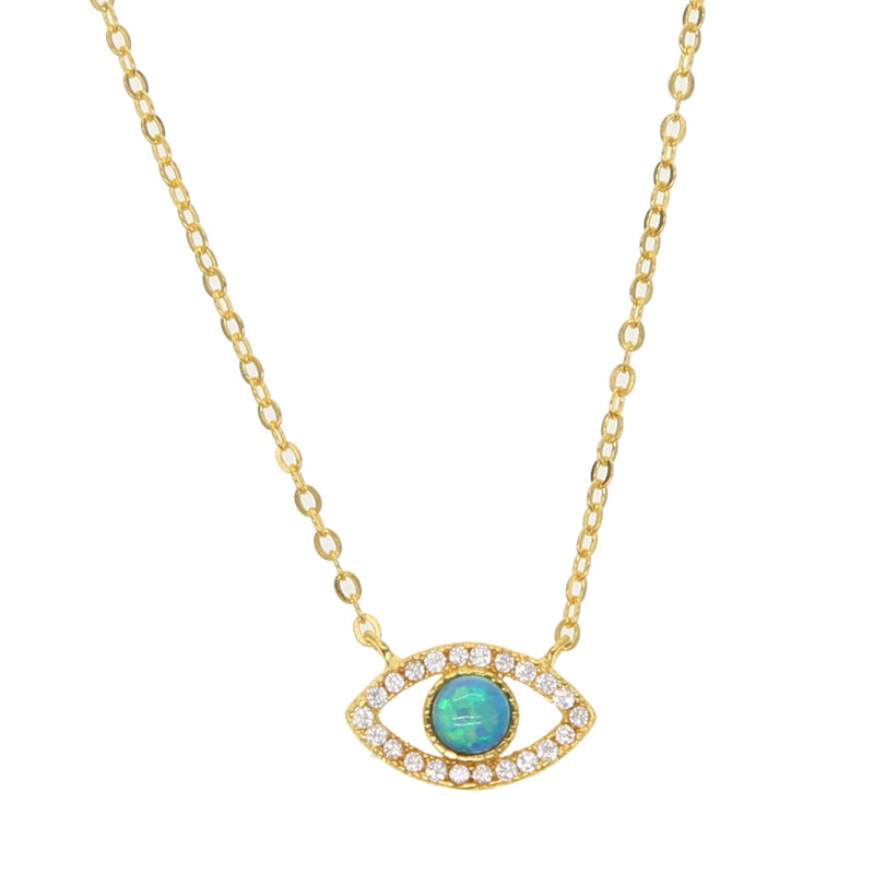 Blue lovely eye charm Necklace - AtaCollections