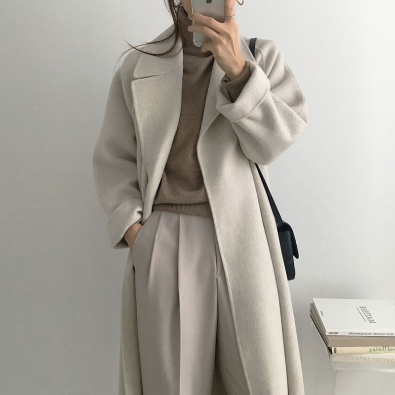 Lovely Long Coat - AtaCollections