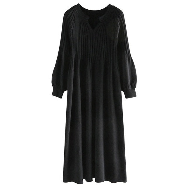 Subtle Sweater Dress - AtaCollections