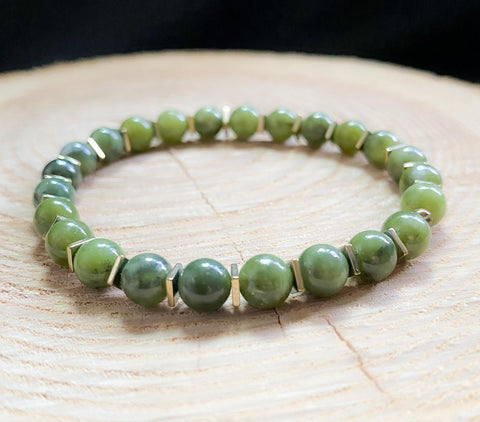 Luck, Fortune, Business Success jade gemstone bracelet