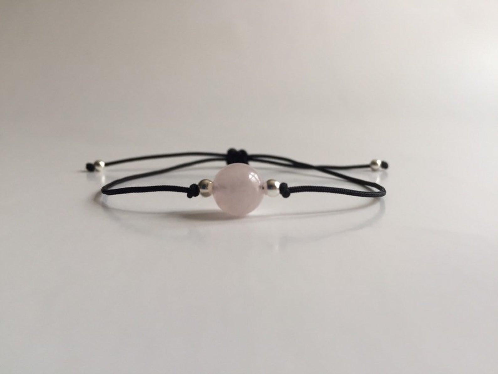 natural rose quartz stone bracelet