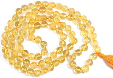 Citrine Mesbaha (tasbih) islamic praying beads ruby gemstone