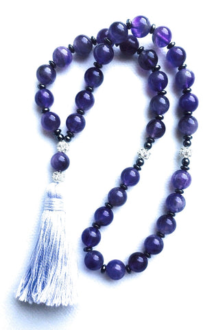 Mesbaha (tasbih) islamic praying beads amethyst gemstone