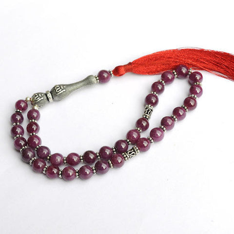 Ruby Mesbaha (tasbih) islamic praying beads ruby gemstone