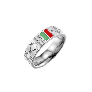 Gucci design steel ring