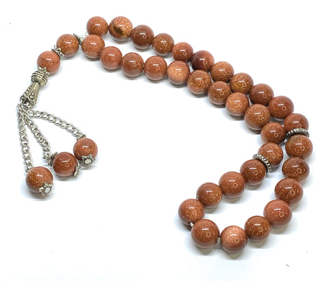 Aventurine Mesbaha (tasbih) islamic praying beads aventurine gemstone