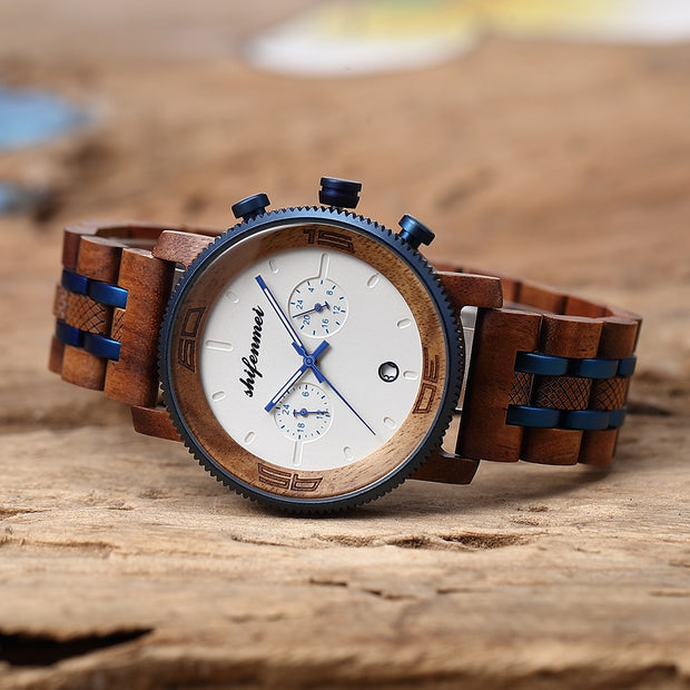 Wooden Chrono Watch