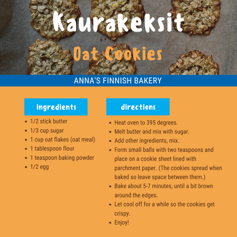 Finnish Oatmeal Cookie Recipe