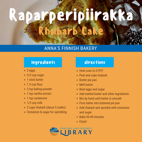 Finnish Rhubarb Cake Recipe