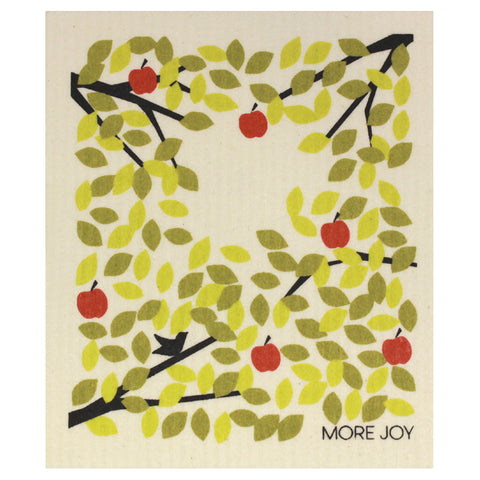 Apple tree , dishcloth