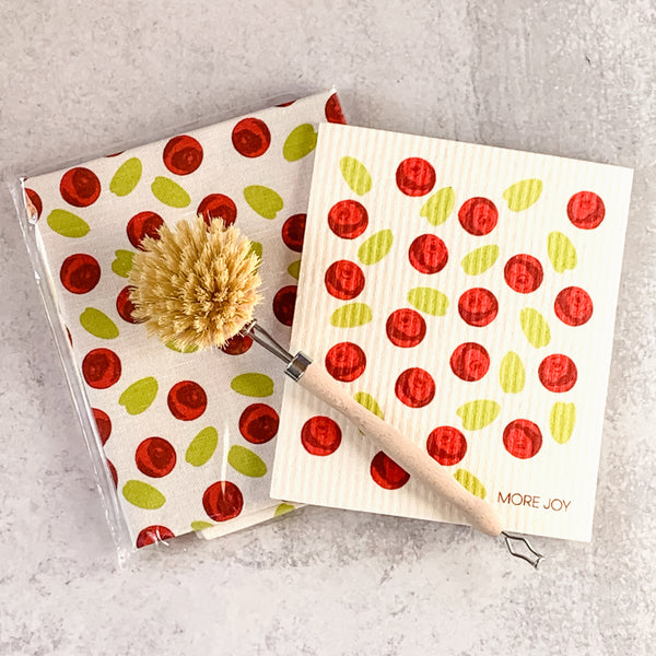 Swedish Dishcloth Lingonberry