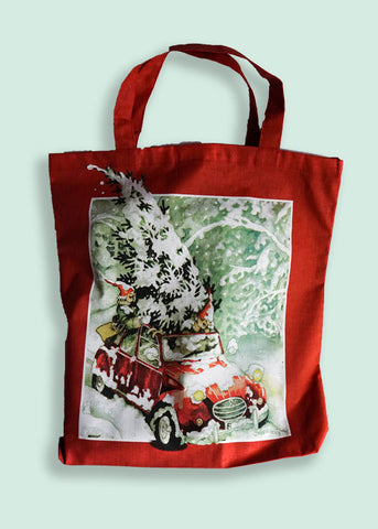 Tote Bag, Red, Inge Löök