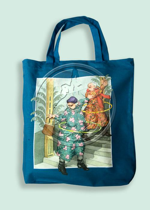 Tote Bag, Blue, Inge Löök