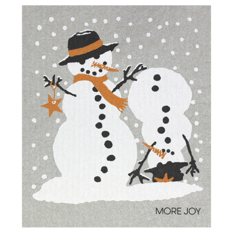 Snowmen, dishcloth