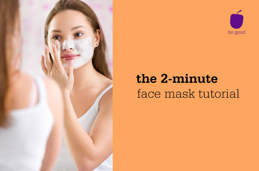 2-minute tutorials: Home facial with a clay mask