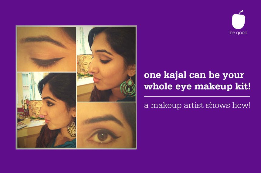 Part 2: One kajal pencil can be your on-the-go makeup kit!