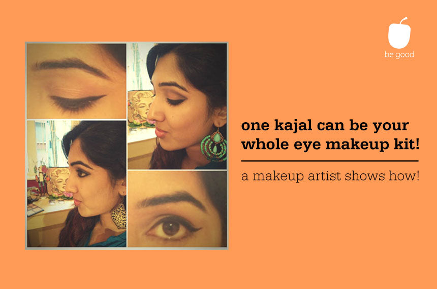 One kajal pencil can be your on-the-go makeup kit! A makeup artist shows how...