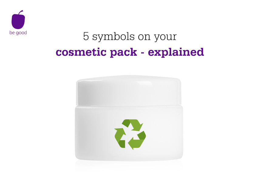 5 symbols on your cosmetic pack - explained