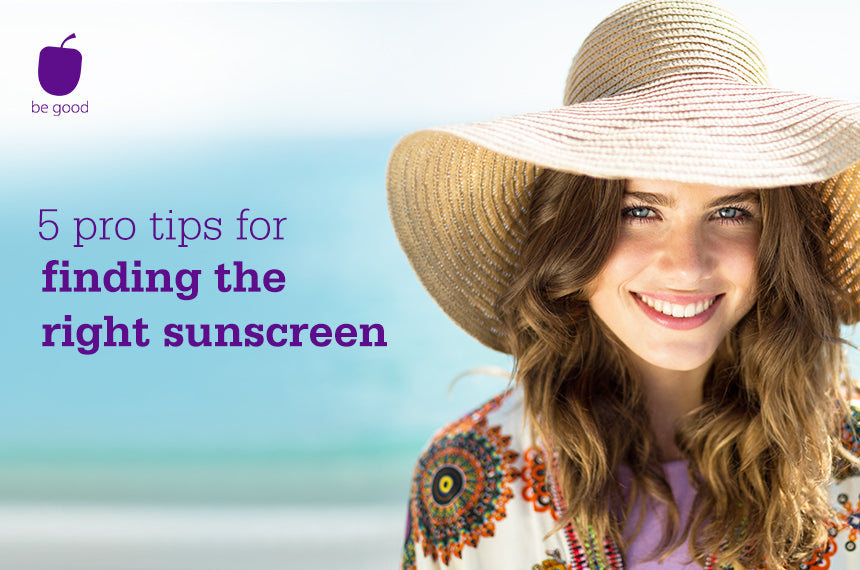 5 pro tips for finding the right sunscreen