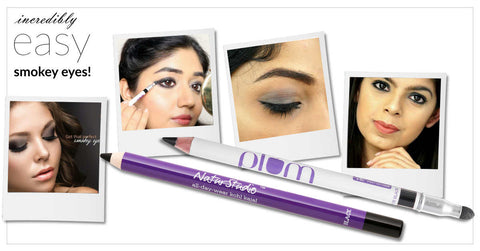 Smokey Eyes with Plum kohl kajal