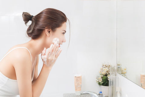 What does a cleansing lotion do?