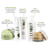 Green Tea Skin Care Full Set - with Oil-Free Moisturizer | All Round Care For Acne-Prone Skin 100% Vegan