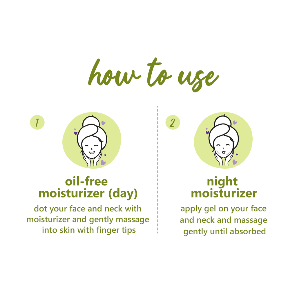 Green Tea - Day & Night Oil-Free Moisturizer Duo | For all-day hydration | Paraben-Free