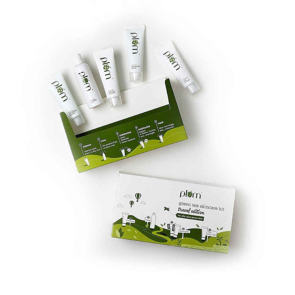 Green Tea Skincare Kit  | Travel-Friendly | Mini Combo