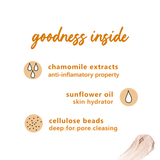 Chamomile & White Tea Brighten-Up Face Scrub | Gentle Exfoliation | For Normal, Dry, Combination Skin
