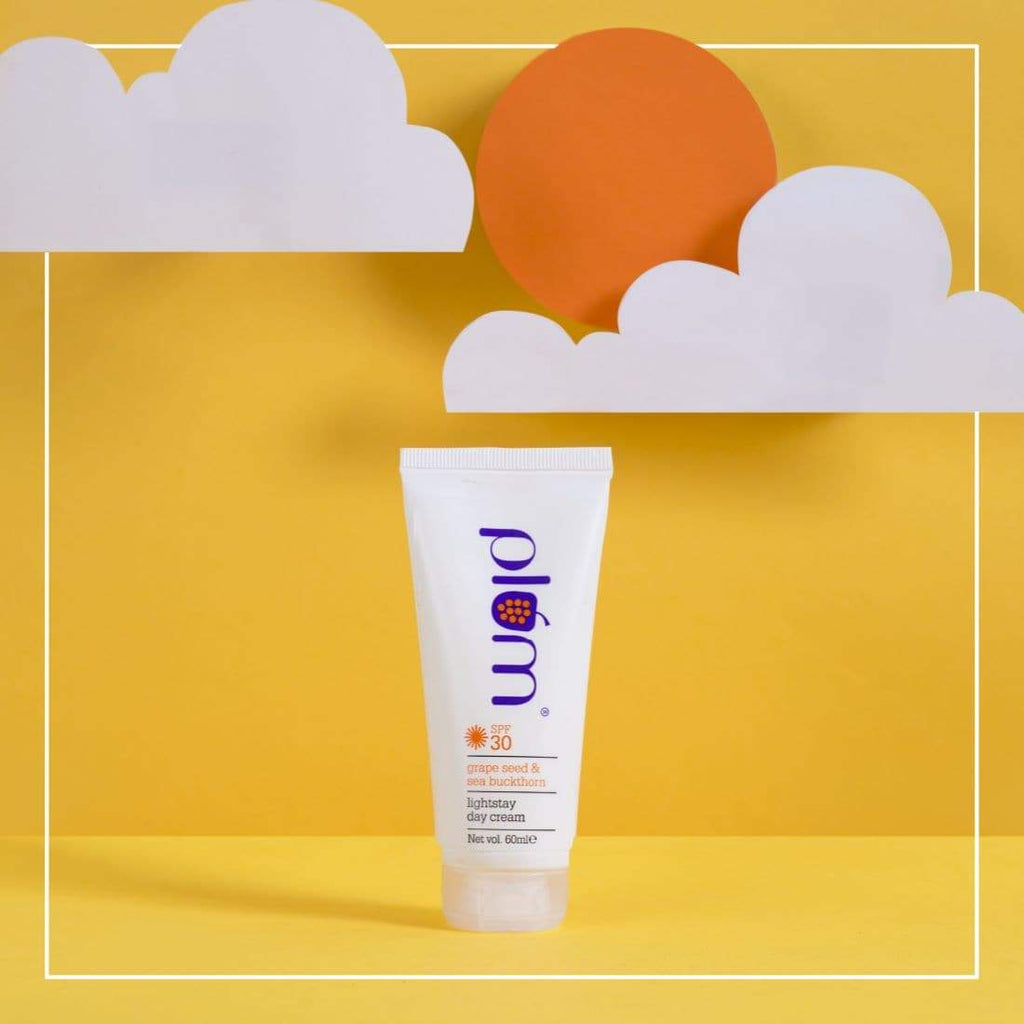 Grape Seed & Sea Buckthorn Light Stay Day Cream SPF 30 PA+++ | Sun-protection | SLS Free, 100% Vegan