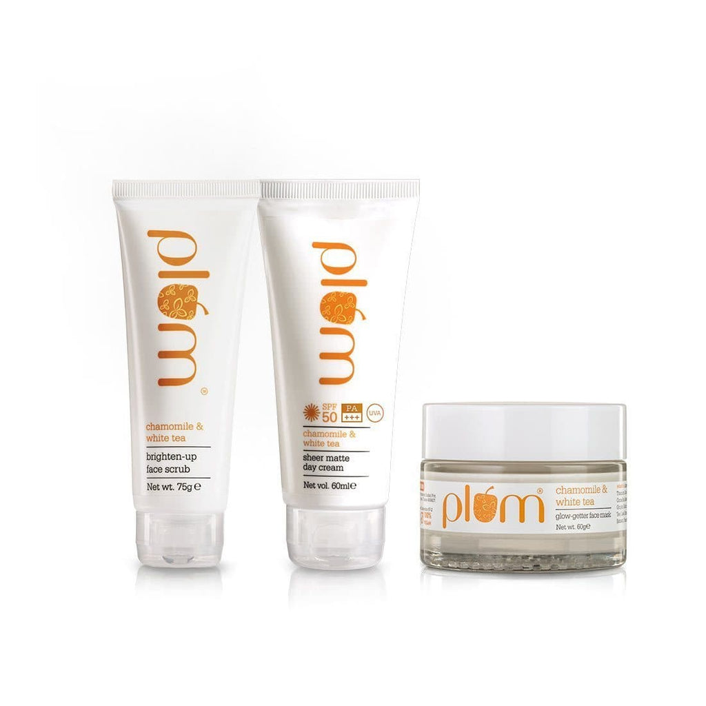 Plum Ban The Tan Combo - SPF50 + Face Scrub + Face Mask