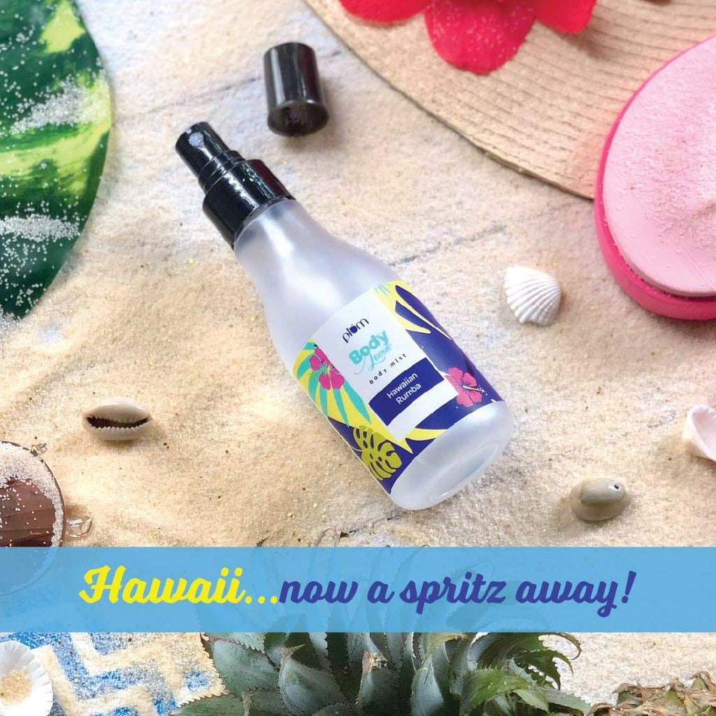 Plum BodyLovin' Hawaiian Rumba Body Mist | Beachy Fragrance | Aloe-Infused | Instantly Refreshes