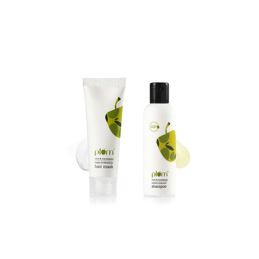 Olive & Macadamia Mega Moisture Hair Duo  | Travel-Friendly | Mini Combo