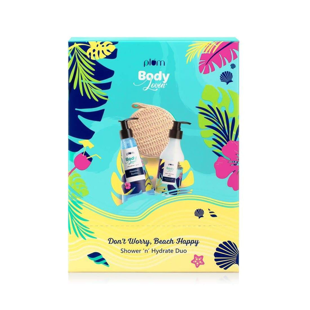 Plum BodyLovin' Don't Worry Beach Happy Shower n' Hydrate Duo
