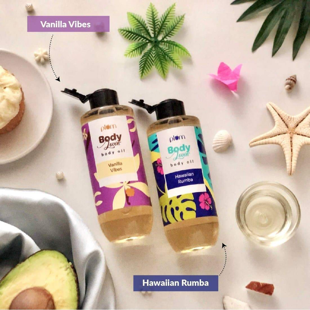 Plum BodyLovin' Vanilla Vibes Body Oil | Normal to Dry Skin | Deep Moisturization | Instant Glow