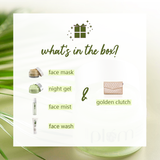 Green Tea Glow Pack Gift Set | At-Home Facial Kit for Oily Skin