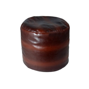 Round Pouff Big Brown