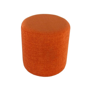 Barrel Orange Round Pouff