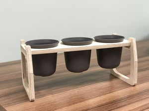 Small Wooden Pot Tray